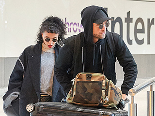Robert Pattinson and FKA twigs Keep Things Low Key While Arriving in London