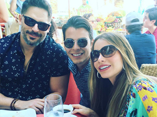 Sofia Vergara Shows Off Wedding Band in Sweet Picture with Son Manolo and Husband Joe Manganiello