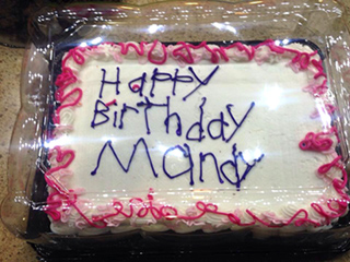 Birthday Cake Decorated by Employee with Autism Melts Hearts Everywhere