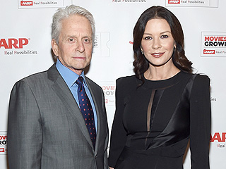 Michael Douglas Emotionally Pays Tribute to Wife Catherine Zeta-Jones While Accepting AARP Award: 'Thank You for the Love'