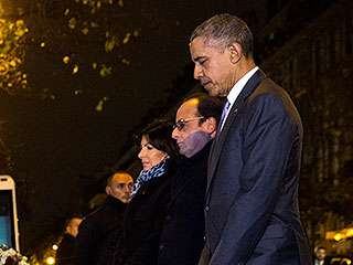 President Obama Pays His Respects to Paris Victims at Bataclan Memorial