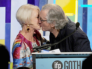 Smoldering in Their 70s! Helen Mirren Kisses Robert De Niro During Bawdy Acceptance Speech at the Gotham Awards