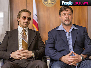 The Nice Guys First Look: A Mustachioed Ryan Gosling and Suspicious Russell Crowe Get Suited Up, '70s-Style