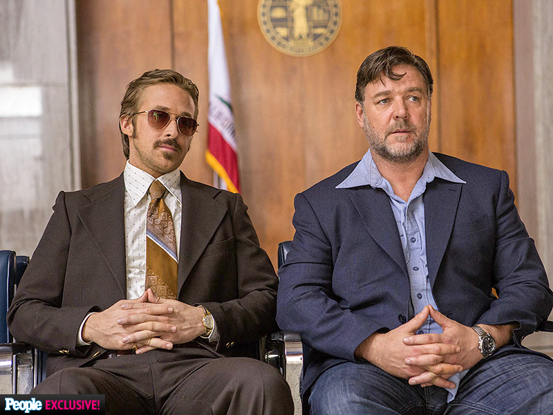Ryan Gosling & Russell Crowe in Nice Guys: First Look Photo