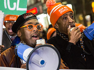 Spike Lee Takes to the Streets to Protest Gun Violence after Chi-Raq Premiere – and Blasts Chicago Mayor Mayor Rahm Emanuel