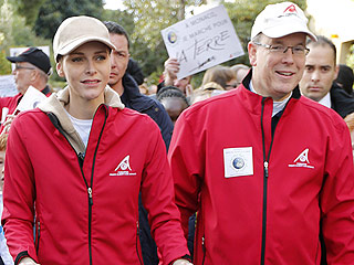 """Princess Charlene Is """"Up Every Morning With The Kids At 6!"""" Says Prince Albert"""