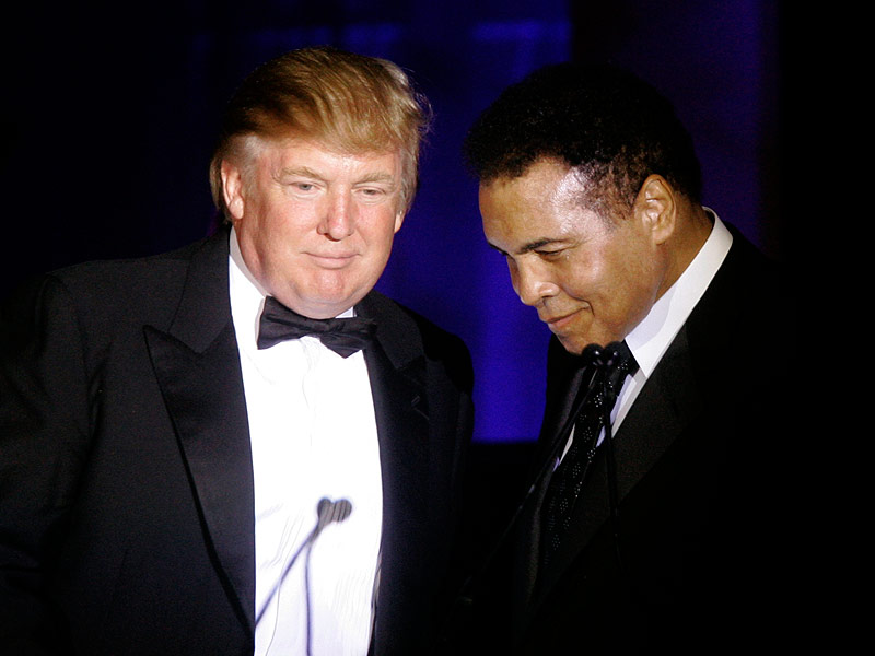 Muhammed Ali Weighs In On The Donald's Muslim Ban – As Trump Claims The Middle East 'Agree' With Him| 2016 Presidential Elections, Donald Trump, Muhammad Ali, Sarah Palin