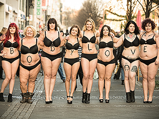 People of All Shapes and Sizes Walk the Streets of Germany in Lingerie for #BodyLove Campaign