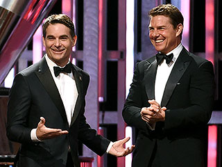 Tom Cruise Makes a Surprise Appearance to Introduce Emotional Jeff Gordon at NASCAR Awards