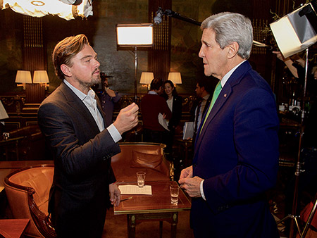 Leonardo DiCaprio and John Kerry Team Up to Fight Climate Change in Paris