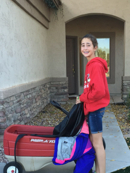 Makenna Breading-Goodrich Collects Coats for Homeless