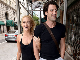 Newly Engaged Maksim Chmerkovskiy and Peta Murgatroyd Can't Hide Their Smiles (Or Her Stunning Ring!)
