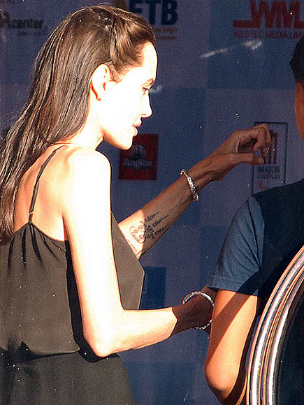 Angelina Jolie Reveals New Tattoo at Cambodia International Film Festival
