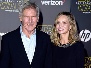 Harrison Ford Is Not Solo At Star Wars Premiere As He Arrives with Wife Calista Flockhart