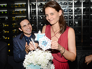 Katie Holmes Celebrates Birthday with Friends at a Dinner Party in N.Y.C.
