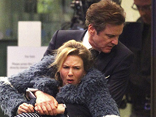 Baby on the Way! Renée Zellweger Gets Carried into Hospital by Colin Firth & Patrick Dempsey While Filming Bridget Jones's Baby