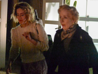 Holland Taylor and Sarah Paulson Step Out for Drizzly (but Adorable) Date Night