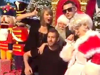 Christmas Comes Early for Taylor Swift as She Parties with Calvin Harris (and Santa!) in L.A. on Her Birthday