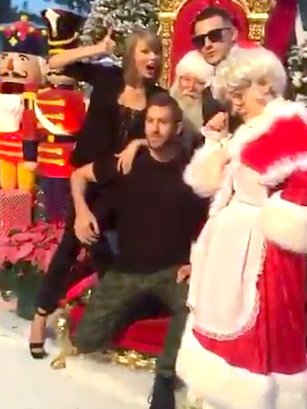 Taylor Swift and Calvin Harris Celebrate Her Birthday at Christmas Party
