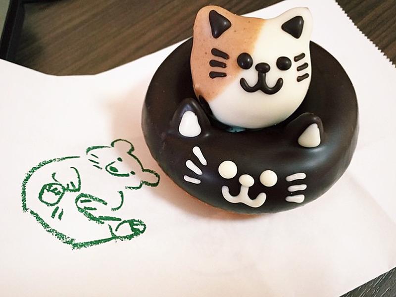Cat donut japan