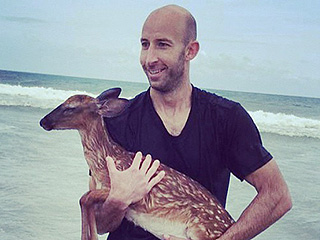 Surfer Rescues Fawn from the Ocean in North Carolina