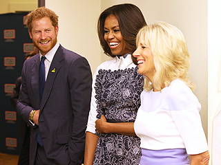 'Ladies, Prince Harry Is Here!' Declares First Lady Michelle Obama