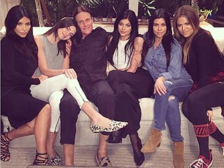 Kim Kardashian Puts 'Family First' in Adorable Group Snap | Bruce Jenner, Kendall Jenner, Khloe Kardashian, Kim Kardashian, Kourtney Kardashian, Kylie Jenner
