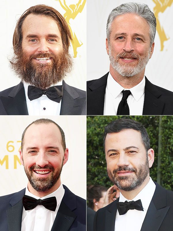 Emmys 2015 beards jimmy kimmel, jon stewart