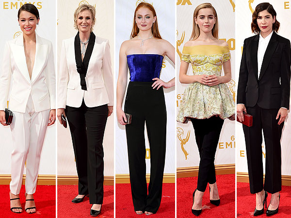 Emmys 2015 in pants: kiernan shipka, tatiana maslany, carrie brownstein