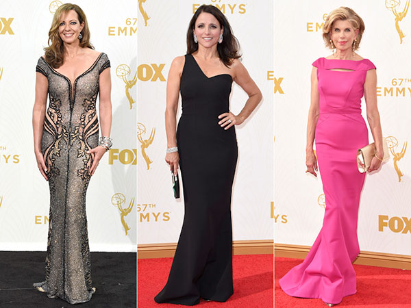 Allison Janney, Julia Louis-Dreyfus and Christine Baranski at Emmys