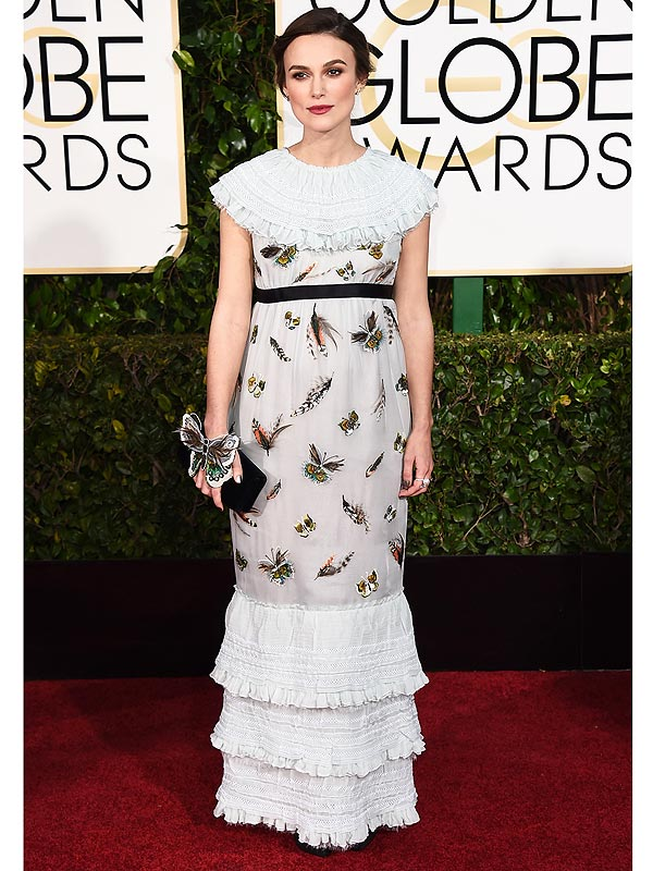 Keira Knightley Golden Globes red carpet