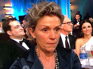 Your Guide to Awards Show Season Reaction Shots | Frances McDormand