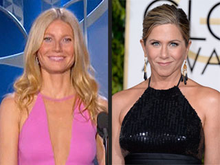Brad Pitt's Exes Jennifer Aniston and Gwyneth Paltrow Show Nothing but Love at the Globes