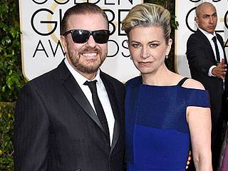 Ricky Gervais Admits His Golden Globes Tux Is 'Tight' After Christmas