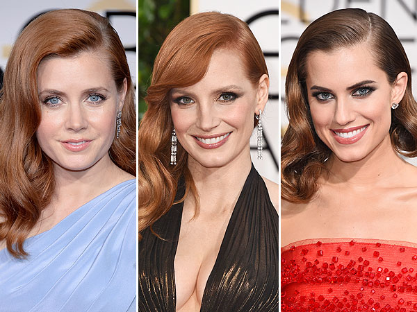 Old Hollywood Waves Rule Carpet Amy Adams, Jessi