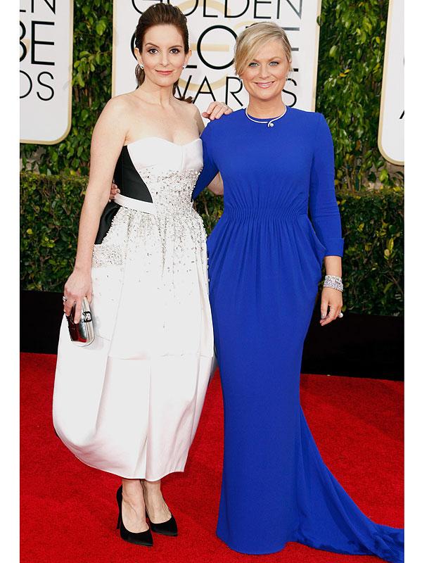 Golden Globes 2015 Tina Fey Amy Poehler dresses