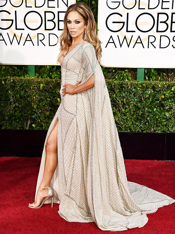 Golden Globes 2015 Jennifer Lopez Cape Style News