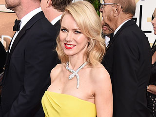 Naomi Watts Pulls a Red Carpet Re-Wear at the Golden Globes | Golden Globe Awards 2015, Golden Globes, Liev Schreiber, Naomi Watts