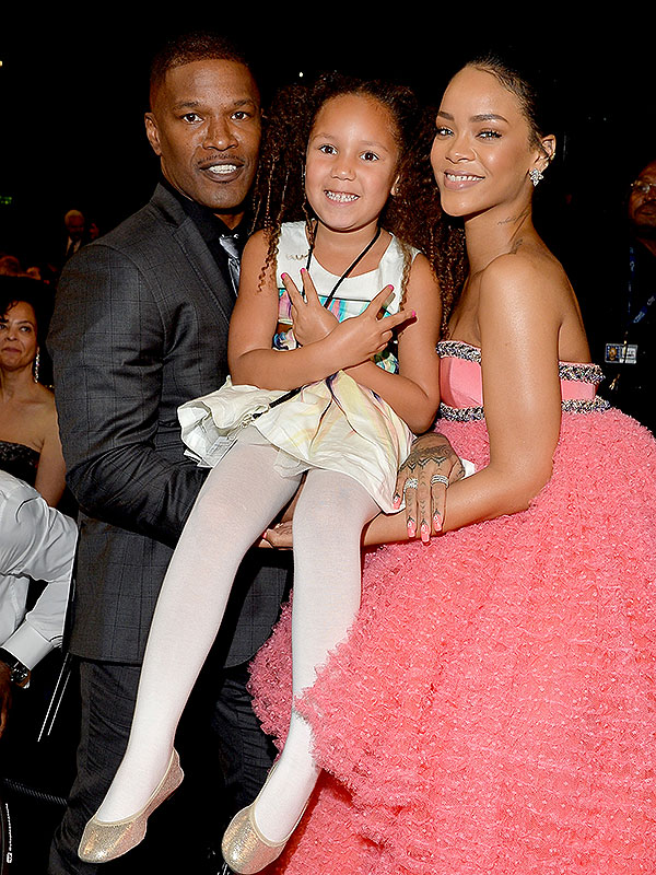 Rihanna Jamie Foxx daughter Grammys 2015