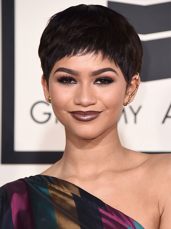 Zendaya arrives at the 57th annual Grammy Awards
