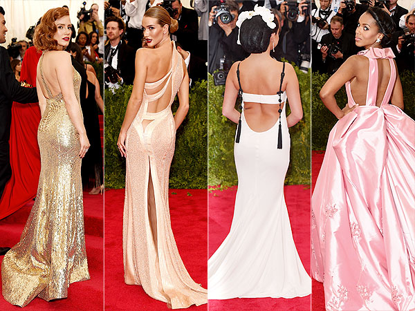 Met Gala 2015 Kerry Washington Selena Gomez Backless Dresses