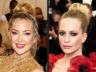 Met Gala 2015 Hair Trend: Kate Hudson and Jennifer Lawrence Lead the Chic Topknot Club