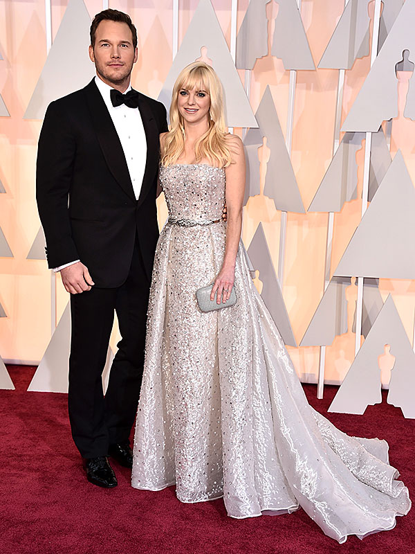 Oscars Chris Pratt Anna Faris red carpet