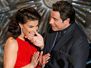 Was John Travolta and Idina Menzel's Touchy-Feely Oscar Moment Planned?