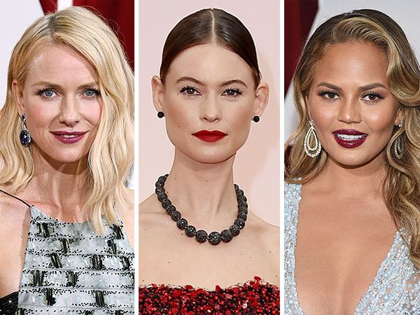 Oscars 2015 red lips