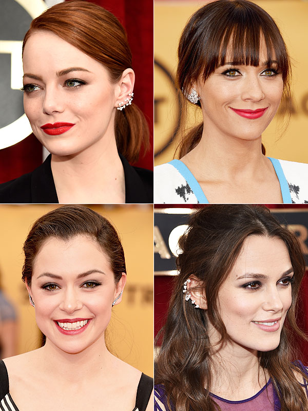 Emma Stone, Rashida Jones, Tatiana Maslany and Keira Knightley ear cuffs