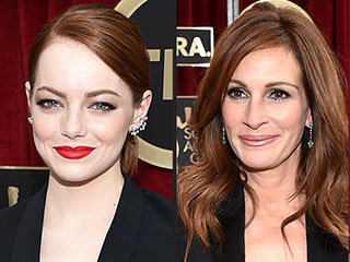 Emma Stone and Julia Roberts Give Their Unique Spin to the Lady Tux | Emma Stone, Julia Roberts