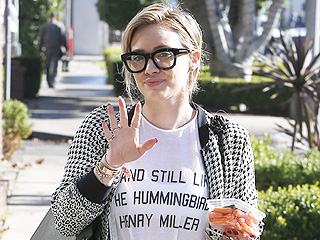 Hilary Duff's Super-Thick Geek Chic Glasses: Obsessed or Hot Mess?