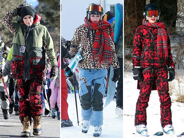 Gwen Stefani ski outfits LAMB