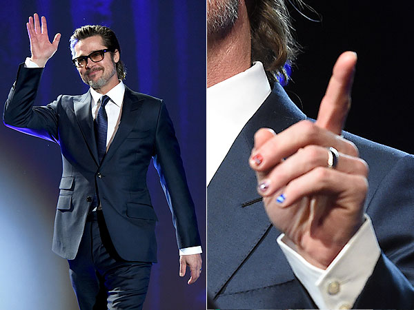 Brad Pitt Manicure